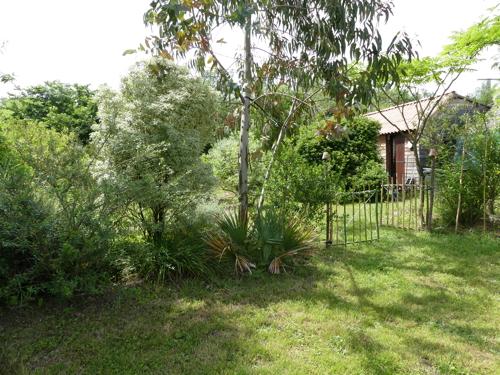 photo du jardin et de l'entrée de la serre à bégonias.